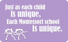 Just as each child is unique, Each Montessori school is unique.